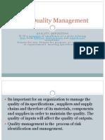 Total Quality Management in Procurement