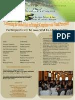 5th Annual AML CFT Conference Brochure 2013 Antigua