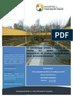 Informativo Mag Intervención Social UBB 2014