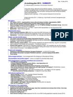 EAA Working Plan 2014 SUMMARY Ver 10 Dec 2013