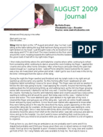 Anita Evans Vilcabamba Ecuador - Journal August 09