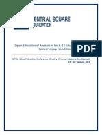 20130808 CSFConceptPaper OER MHRDConference v0.7