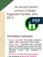 Informe anual Centro de alumnos Colegio Sagrada Familia.ppt