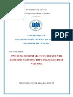 Ứng dụng mô hình vector tự hồi quy VAR kiểm định và dự báo thực trạng lạm phát Việt Nam