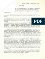 UPCUSA General Assembly statement on apartheid, 1965.