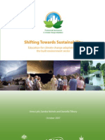 Education for Climate Change Adaptation in the Built Environment Sector
