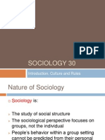 sociology 30--intro culture rules
