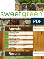 sweetgreen marketing research presentation