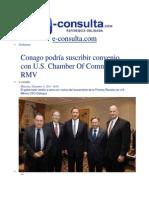 11-12-2013 e.consulta.com - Conago podría suscribir convenio con U.S. Chamber Of Commerce, RMV