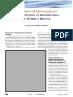 Soluciones Al Ensuciamiento de Membranas RO