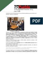 10-12-2013 Sexenio Puebla - Más inversión en seguridad durante 2014, anuncia Moreno Valle
