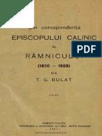 T G Bulat - Din Corespondenta Episcopului Calinic Al Ramnicului (1927)