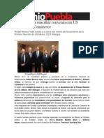 10-12-2013 Sexenio Puebla - Conago Busca Suscribir Convenio Con US Chamber of Commerce