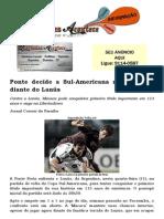 Ponte decide a Sul-Americana nesta quarta diante do Lanús