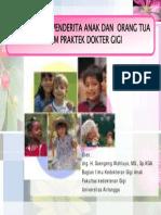 Pengelolaan Penderita Anak Dan Drg - SG