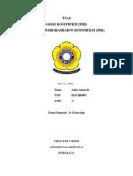 Kriteria Bahan Konstruksi Kimia