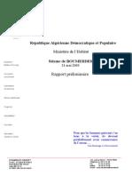 Rapport préliminaire 08.06.03