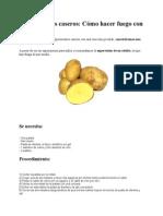Cómo hacer fuego con una patata