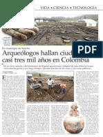 Arqueologos hayan ciudadela de casi tres años en Colombia - El Mercurio de Santiago- 02-12-13.pdf