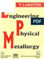 Engineering Physical Metallurgy by Y. Lakhtin