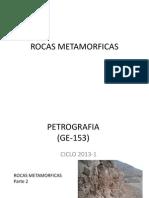 Tipos de Rocas Metamorficas 2013-1