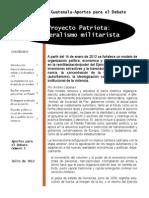 El Proyecto Patriota