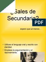 Sales de Sec Und Aria (Perfil de Egreso)