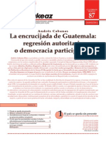 La encrucijada de Guatemala