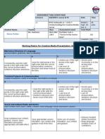 portfolio task 1 presentation rubric2