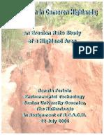 Soil Erosion in Cameron Highlands