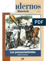 Cuadernos Historia 16, nº 059 - Los Pronunciamientos