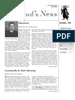 St. Paul's News - November, 2005