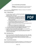 winter break work essays paragraph final portfolio and presentation english 1101 1