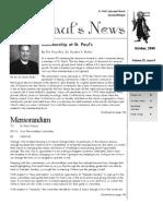 St. Paul's News - October, 2008