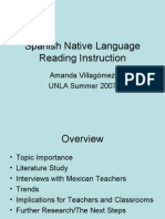 Spanish Native Language Reading Instruction