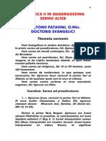 1195-1231, Antonius Patavinus, Sermo 007 Dominica II in Quadragesima Sermo Alter, LT