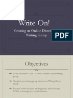 Write On! Creating an Online Dissertation Writing Group