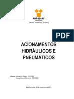 TRABALHO ACIONAMENTOS HIDRÁULICOS E PNEUMÁTICOS - 2013
