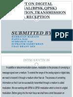 Report on Digital Signal(Bpsk,Qpsk) Generation,Transmission & Reception (200)