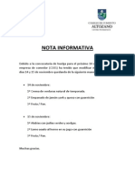 Nota Informativa - Comedor Huelga