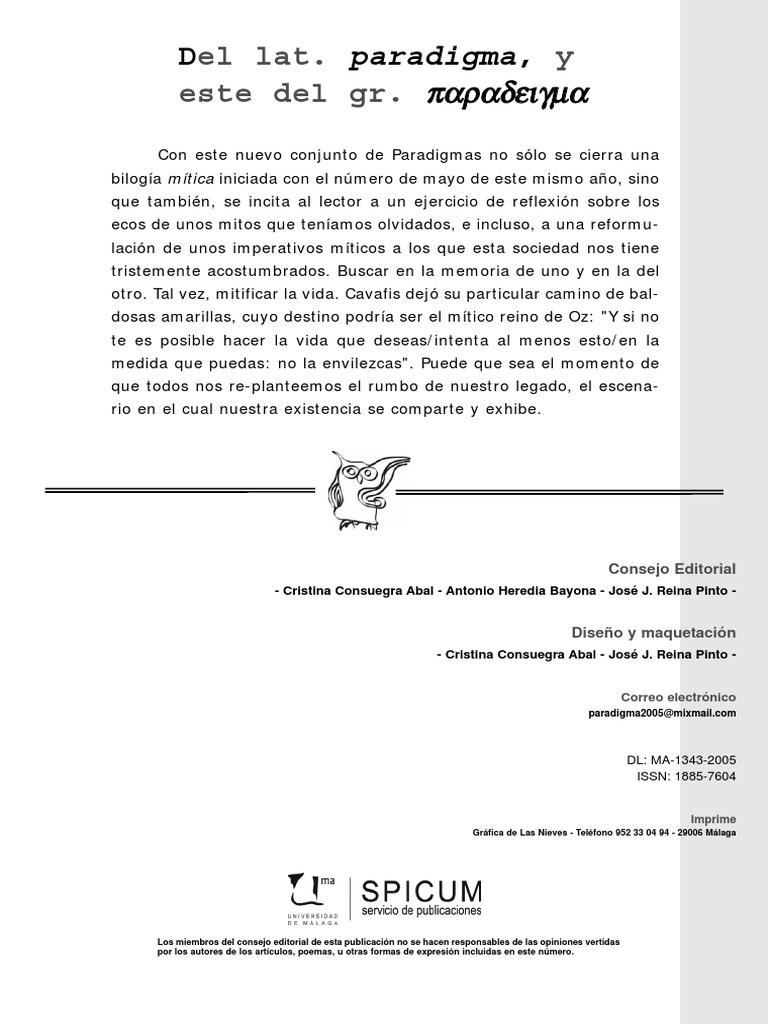 Paradigma nº 4 - MITOS II