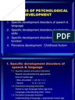 Disorders of Psychological Development