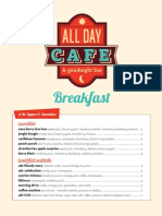 All Day Cafe Breakfast Menu