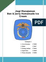 Strategi Manajemen - Ben & Jerry Homemade Ice Cream