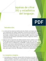 2.4. Máquinas de cifrar (siglo XX) y estadística del lenguaje.