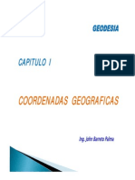Geodesia Capitulo i Localizacion Geografica de Un Punto