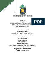 Comparacion Del Codigo Del Civil