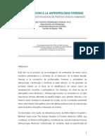 Introduccion a La Antropologia Forense - Rodrguez Cuenca