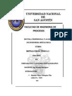 Metalurgica de Preparacion y Analisis Cristalografico