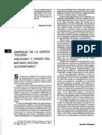 Ascenso y Crisis Del Estado Social Enrrique de La Garza
